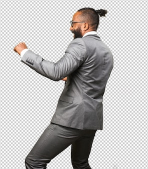 Business schwarzer mann tanzen