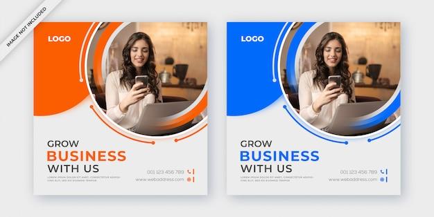 Business social media post oder banner vorlage