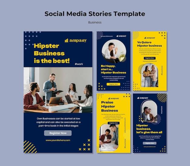 Business social media post-vorlage