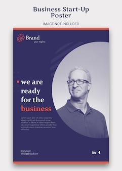 Business startup flyer poster vorlage