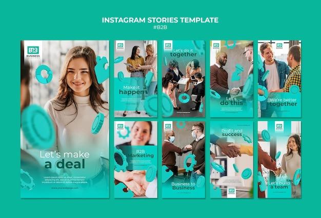 Business to business instagram geschichten vorlage