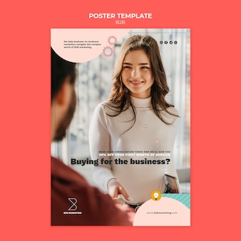Business-to-business-poster-vorlage