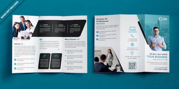 Business trifold-broschüre