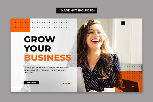 Business web banner vorlage
