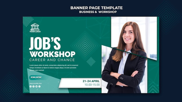 Business & workshop banner vorlage