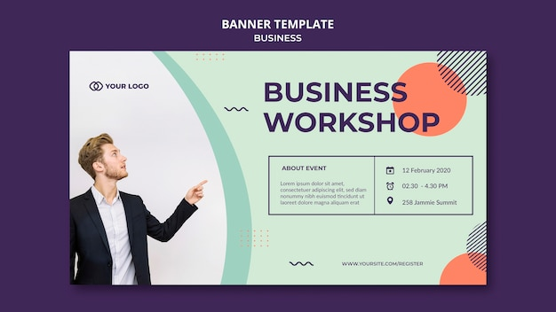 Business workshop konzept banner vorlage