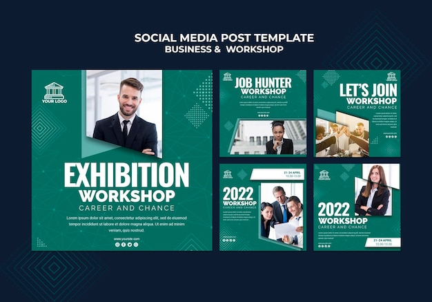 Business & workshop social media post