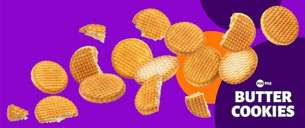 Butterkekse sammlung, kekse isoliert