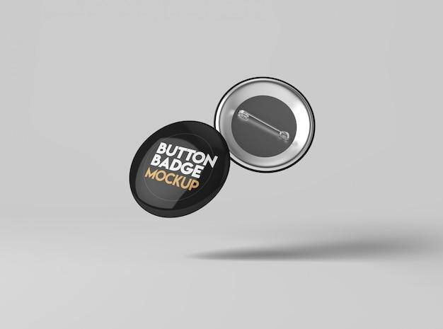 Button abzeichen mockup