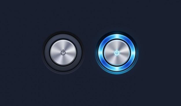 Button power button psd