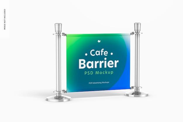 Café barrier mockup
