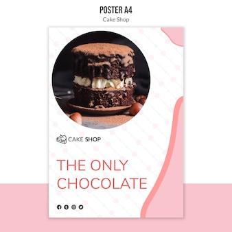 Cake shop konzept poster vorlage