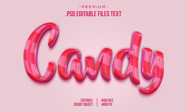 Candy 3d textstil-effekt, hand gezeichnete schriftzugkarte, moderne pinselkalligraphie, candy-texteffekt, elegante rosa lila abstrakte candy-texteffekt einstellen