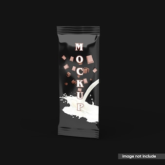 Candy chocolate bar mockup isoliert