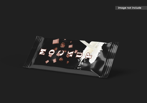 Candy chocolate bar mockup isoliert Premium PSD