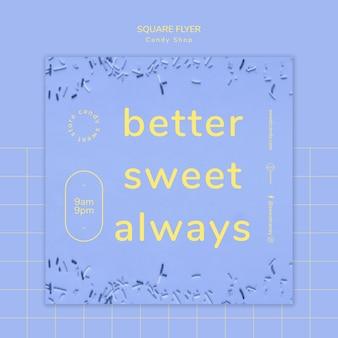 Candy-shop-konzept für flyer vorlage