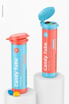 Candy tubes mit flip-cap-modell