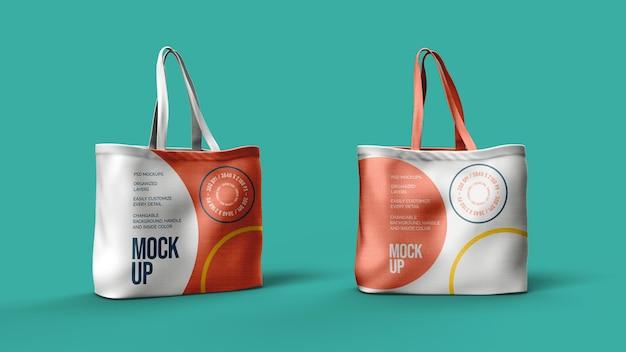 Canvas-taschen mockup-design isoliert
