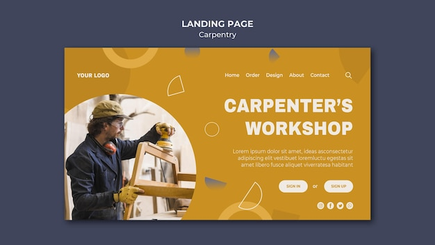 Carpenter ad landing page vorlage