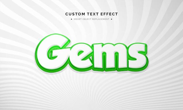 Cartoon 3d textstil-effekt