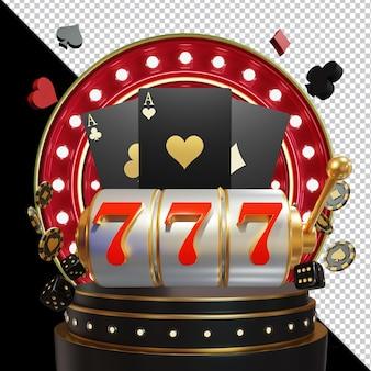Casino 3d element zusammensetzung isoliert