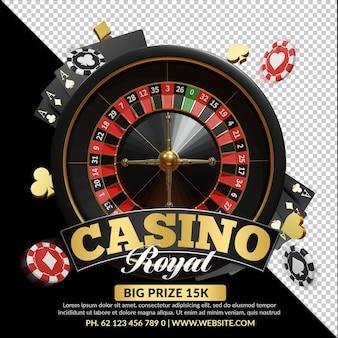 Casino royal 3d-render-komposition