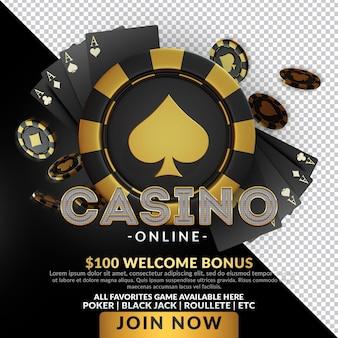 Casino royal night event 3d-render-komposition