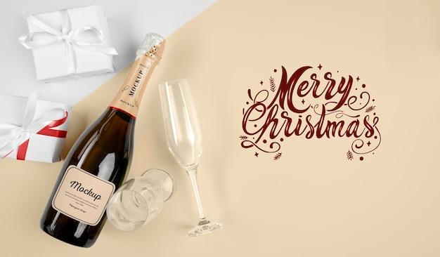 Champagnerflasche mit modell