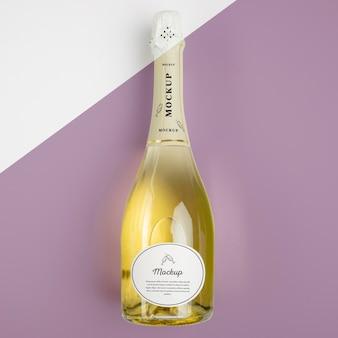 Champagnerflasche mit modell Kostenlosen PSD