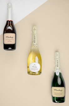 Champagnerflaschen mit modell Premium PSD
