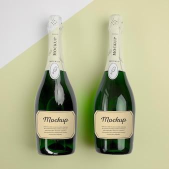 Champagnerflaschen mit modell Kostenlosen PSD