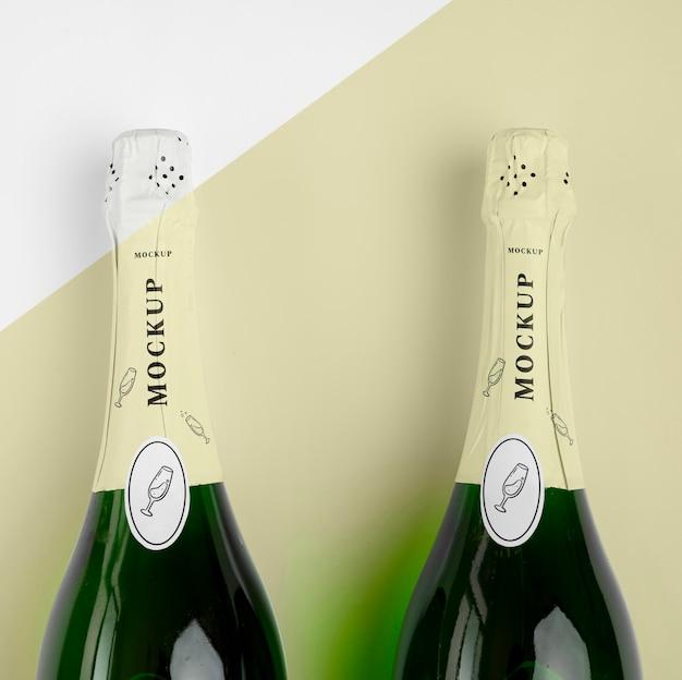 Champagnerflaschen mit modell