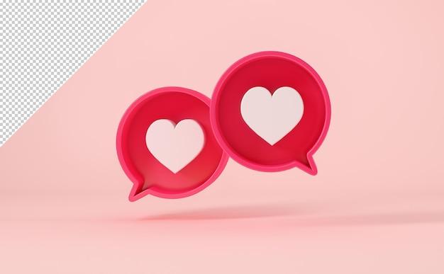 Chat-blasen mit ähnlichem symbol auf rosa hintergrund, mock-up