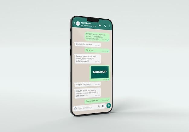 Chat-modell mit telefon