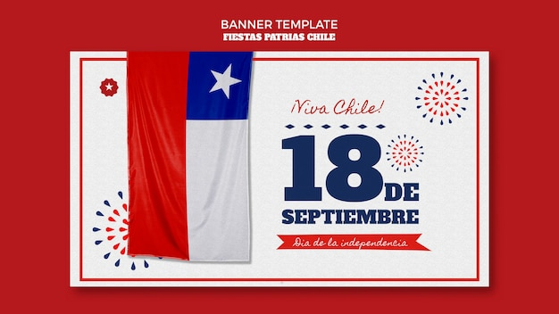Chile international day banner thema