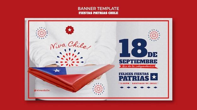 Chile internationalen tagesbanner