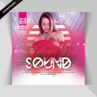 Chill-sound-party-flyer