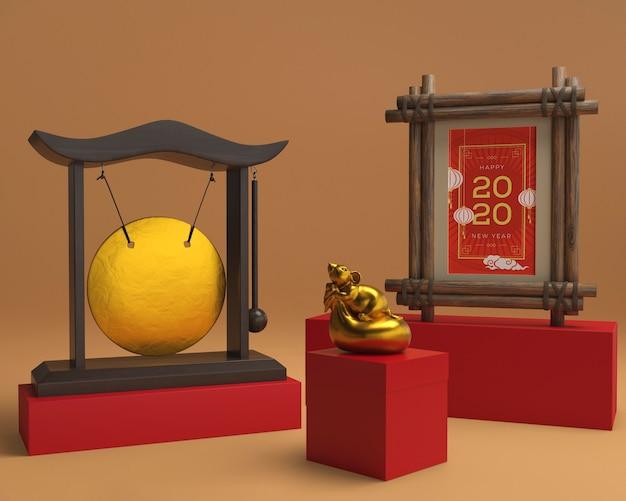 Chinesische dekorationen des neuen jahres