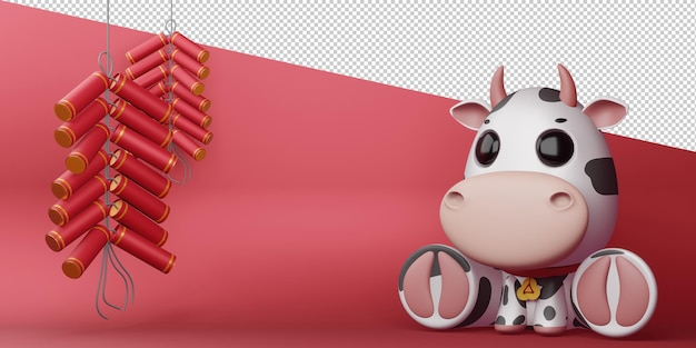 Chinesisches neujahr, jahr des ochsen.