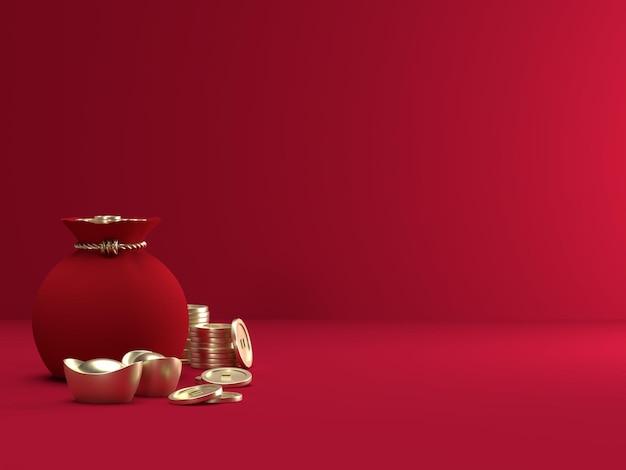 Chinesisches neujahrsfest in 3d-rendering
