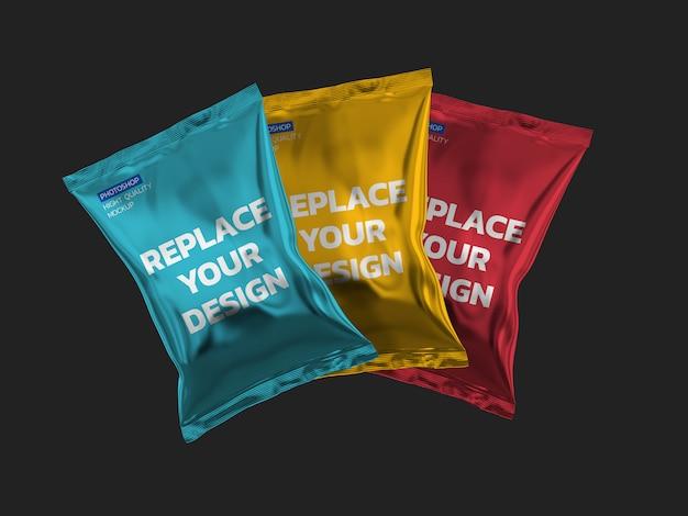Chip bag 3d rendering design