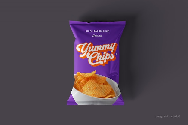 Chips bag mockup
