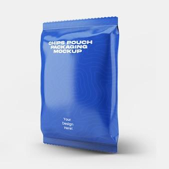 Chips pocket packaging mockup
