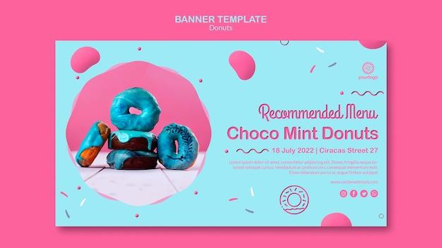 Choco mint donuts banner vorlage