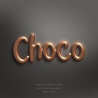 Choco text style effekt psd