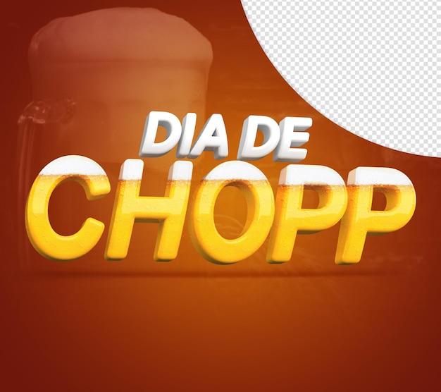 Chopp day 3d stempel für zusammensetzung drink drinking day