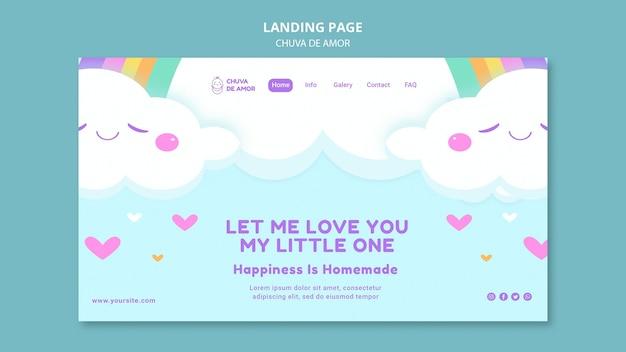 Chuva de amor landingpage-vorlage