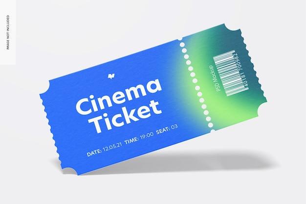 Cinema ticket mockup