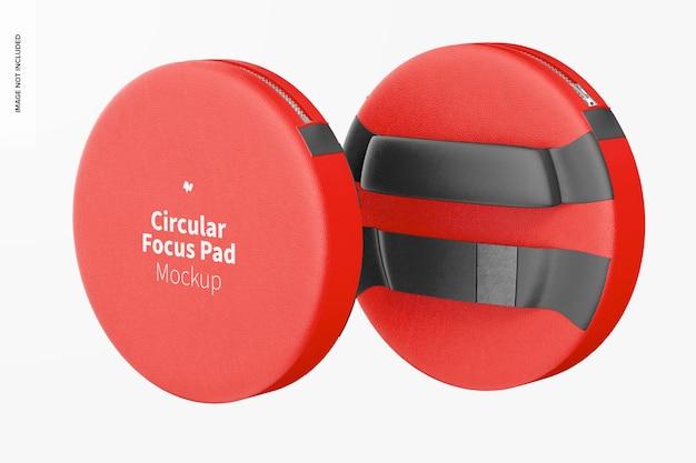 Circular focus pads mockup, schwebend