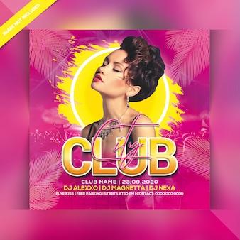 City club nachtparty flyer